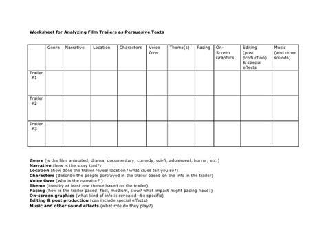 film quiz spreadsheet printables film study worksheet beyoncenetworth