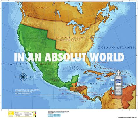 map usa and mexico mexico reconquers california absolut drinks to that la