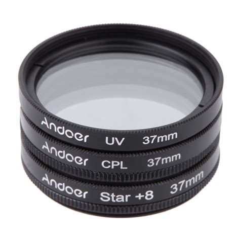 3 In 1 Cpl 37mm Filter Lens Cover Xiaomi Yi buy andoer 37mm filter set uv cpl 8 point kit