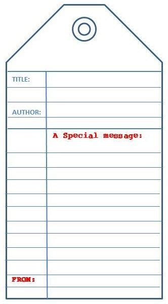 crash card template library book tag my bookcase printables