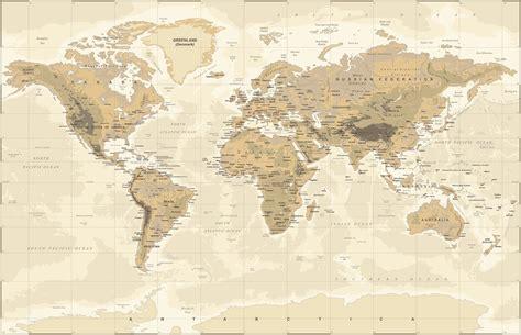 world map explore fotobehang behang photowall beige and green world map tapetit tapetti photowall
