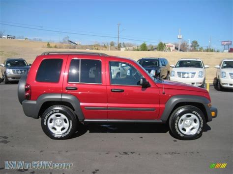 red jeep liberty 2007 2007 jeep liberty sport in inferno red crystal pearl photo