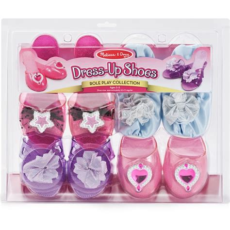 dress up shoes 4 pairs play set educational toys