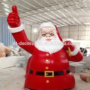 big santa claus outdoor christmas fiberglass decorations
