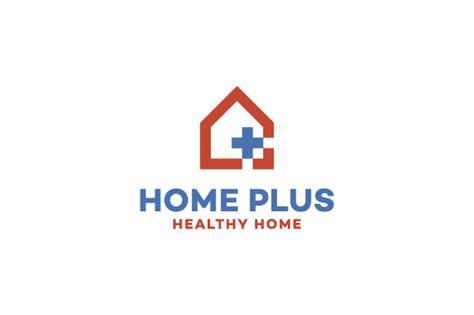 home plus hospital logo logo templates on creative market