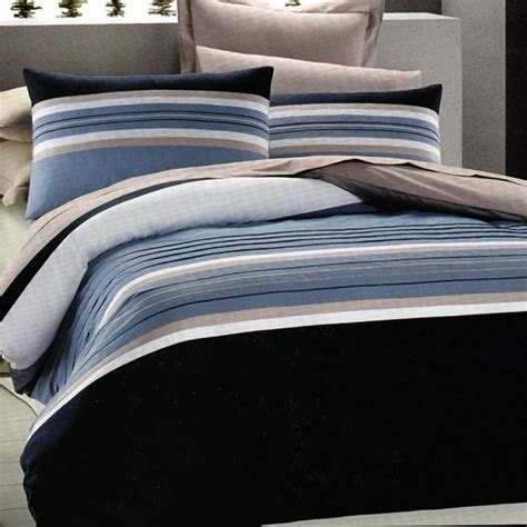 Navy Striped Quilt by Nautical Stripe Navy Blue King Quilt Doona Cover Set Ebay