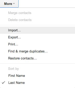 import thousands of contacts into google gmail contacts