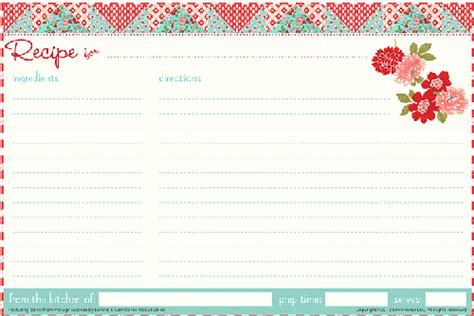 recipe card template for 25 free printable recipe cards home cooking memories