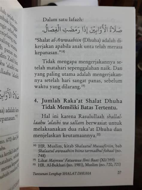 Buku Tuntunan Solat Buku Saku Buku Sunnah buku saku tuntunan lengkap shalat dhuha toko muslim title