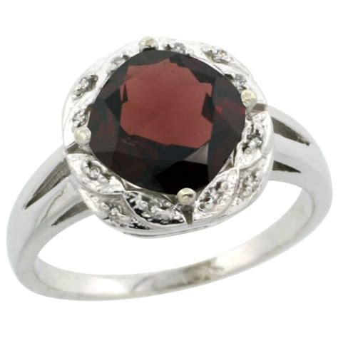 garnet engagement ring white gold garnet engagement ring