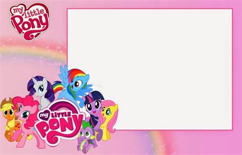 my little pony invitation template for girls invitations