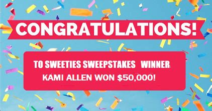 Cash Sweepstakes Ending Today - sweeties sweeper wins 50 000 in esurance super bowl sweepstakes