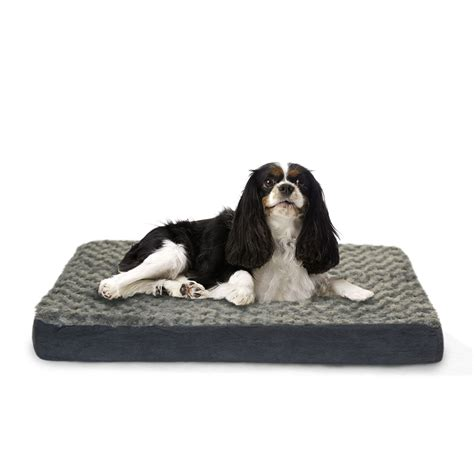 orthopedic pet bed furhaven pet bed deluxe ultra plush orthopedic dog bed ebay