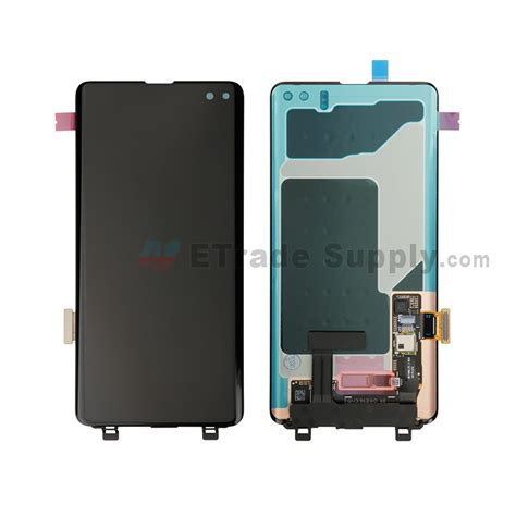 Samsung Galaxy S10 2 Screens by Samsung Galaxy S10 Plus Series Lcd Screen And Digitizer Assembly Black Without Logo Grade