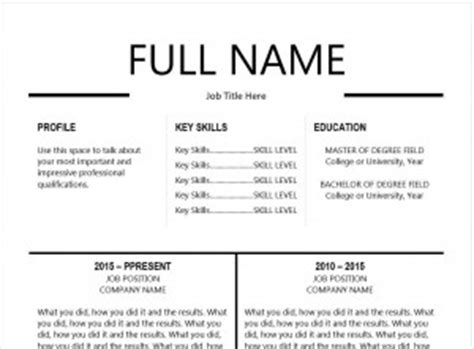Resume Templates Never Had A The 10 Best Resume Templates You Ll Want To Career