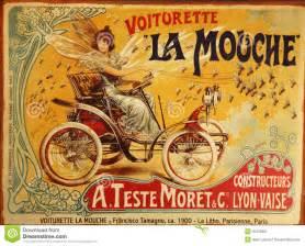 Vintage french advertisment for voiturette la mouche small car the