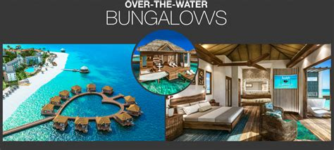 the water bungalows sandals sandals whitehouse relaunches as sandals south coast