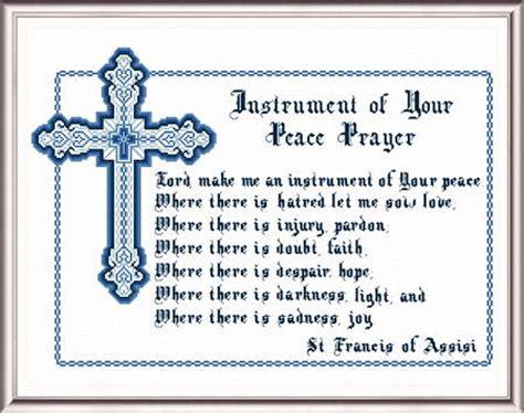 kingdom pattern for prayer peace prayer cross stitch pattern religious