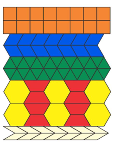 pattern block templates templates for pictures with blocks patterns