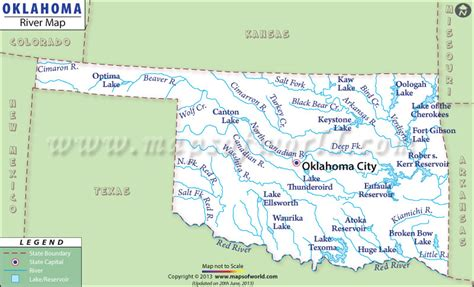 oklahoma rivers map image oklahoma map with rivers