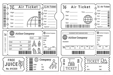 search results for airline ticket template word