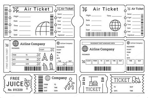 Galerry printable air ticket