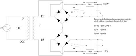 dual power supply circuit diagram my room schematic diagram power supply dual output 12v 5v