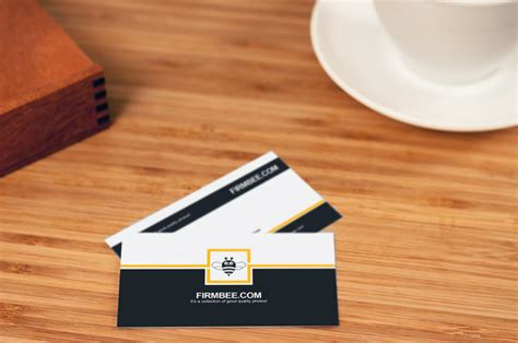 cards on the table business cards on the table psd mockup for free firmbee