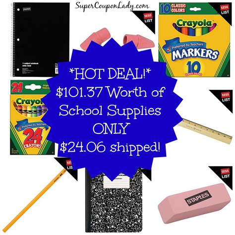 back to school supplies sale back to school sales 101 37 worth of school supplies
