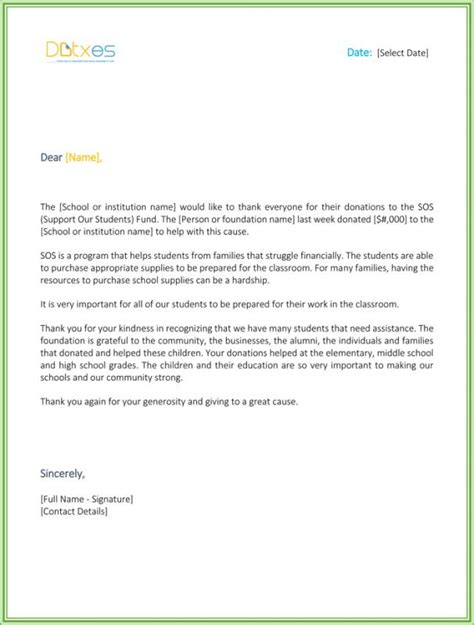 donation letter template for schools donation letter template for schools play on info