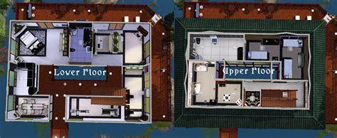 Ground Floor 3 Bedroom Plans mod the sims japanese waterfall house