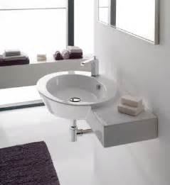 Wall Mounted Vanities For Small Bathrooms Ceramic Wall Mounted Sinks A Great Alternative For A