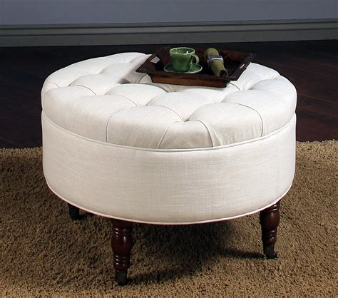 round coffee table with storage ottomans white round fabric ottoman coffee table with storage and