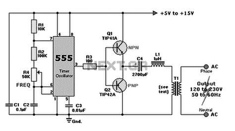 12vdc to 220vac inverter circuit diagram repair wiring