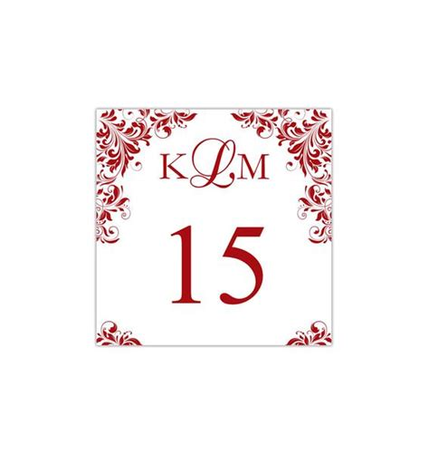 printable table number template kaitlyn red tent wedding