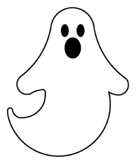 printable paper ghost template to make a tissue paper ghost halloween