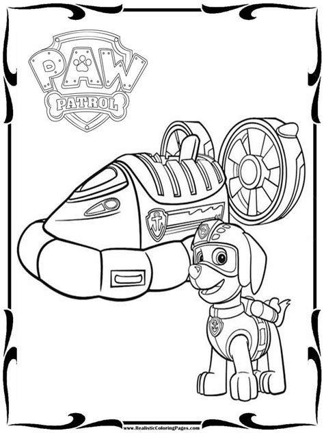 printable paw patrol coloring pages printable coloring pages for paw patrol realistic