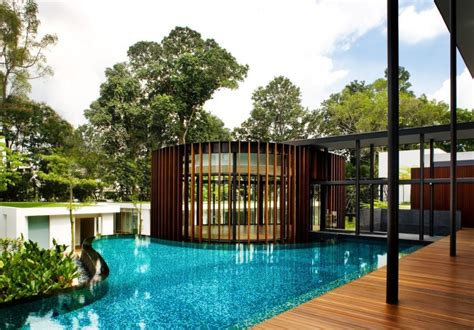 modern organic home natural architecture style modern house with curvilinear pavilion blending in with