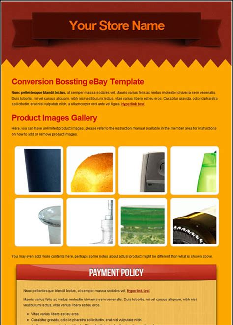 ebay listing template html code picture 64 171 free ebay templates superauctiontemplate