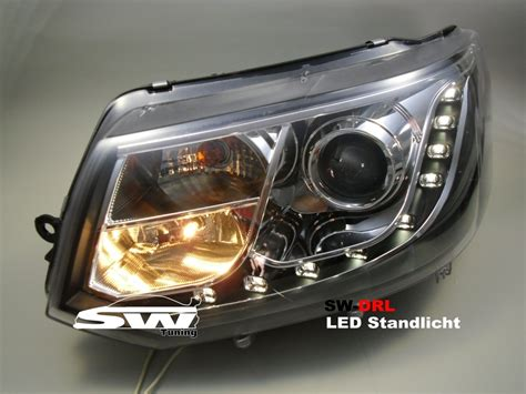 led len kaufen sw drl headlights vw t5 type 7h gp 09 14 led daytime