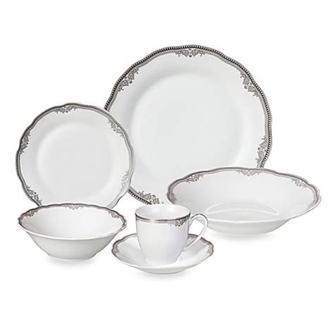 home trends dishes lorren home trends elizabeth 24 piece dinnerware set bed