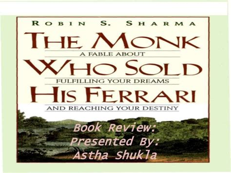 the monk who sold the the monk who sold his book review ppt