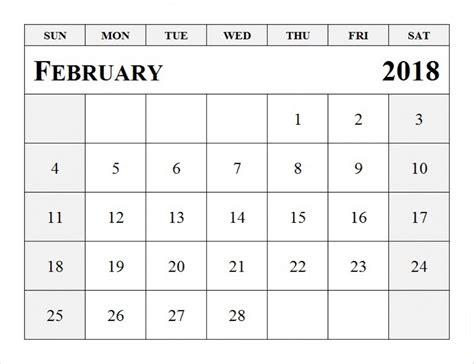 printable february 2018 calendar pdf february 2018 calendar printable pdf free download free