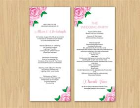Wedding Ceremony Program Templates by 17 Wedding Program Template Free Premium Templates
