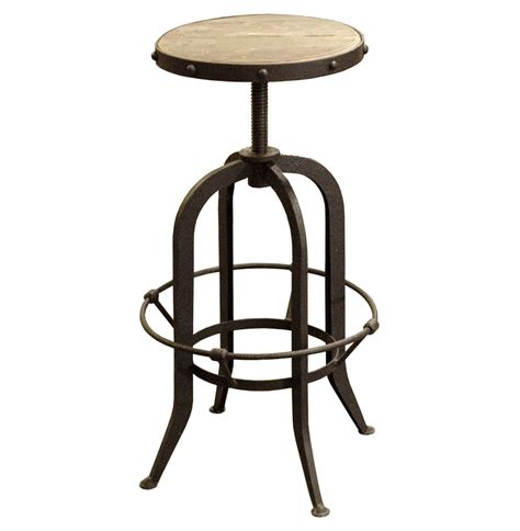 industrial style bar stools with back backless industrial style adjustable bar stool decofurnish