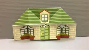 How To Make A House Using Paper - free origami house paper print your own houses