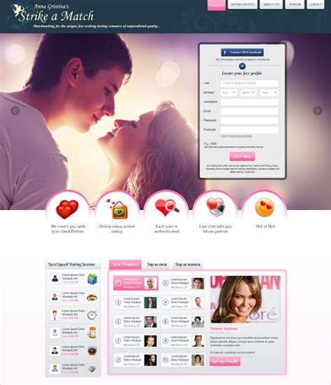 Speed Dating Website Template 27 Dating Website Themes Templates Free Premium Templates