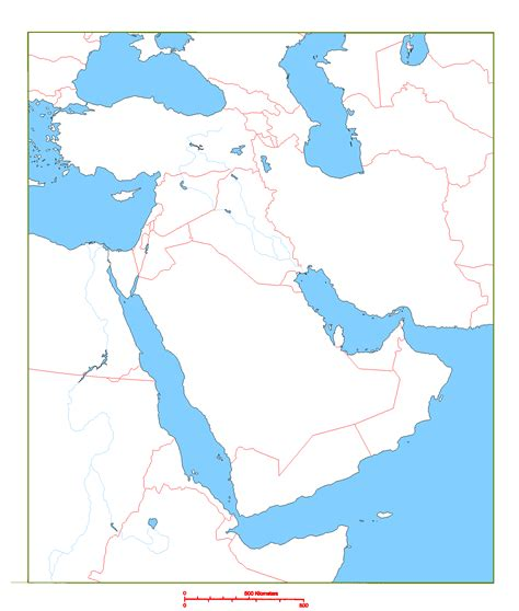 middle east map no names blank map of middle east geography middle