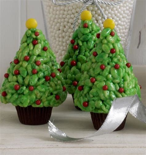 rice krispies christmas trees merry christmas pinterest