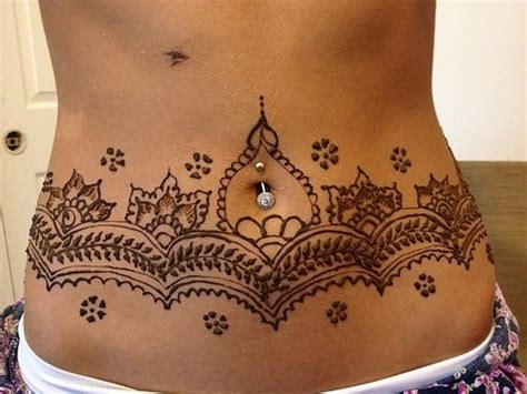 henna tattoo designs for waist best 25 stomach tattoos ideas on